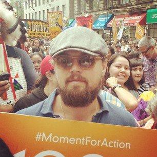 En Nueva York, celebridades como Leonardo Di Caprio se sumaron a esta iniciativa.