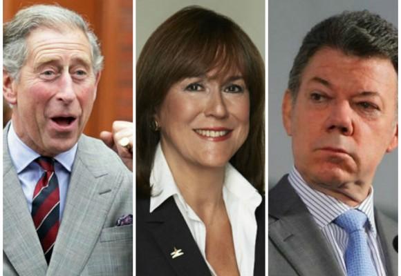La relación del príncipe Carlos y Juan Manuel Santos atravesada por una caleña