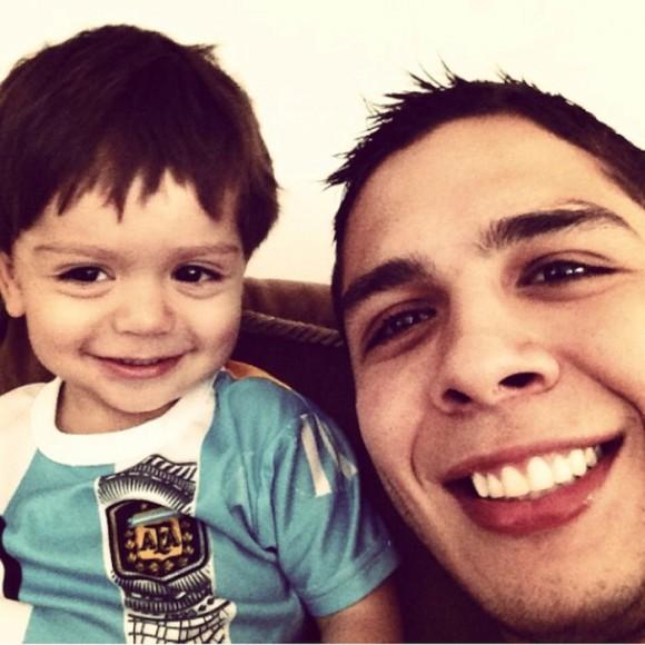 Juan Esteban y su sobrino, Maximiliano