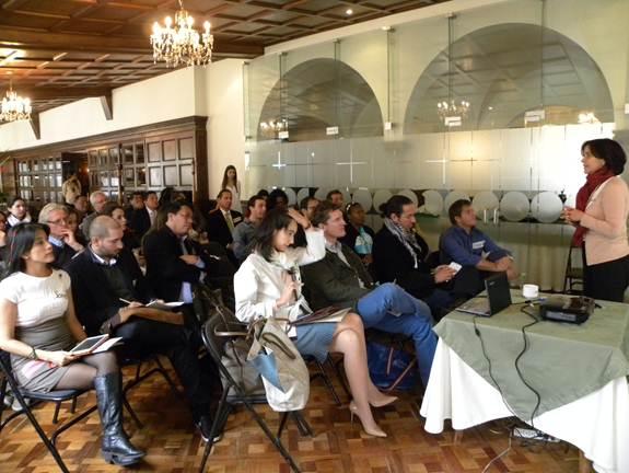 Wendy Arenas, directora estratégica de Amazonas2030, invitó a los participantes a que las propuestas generaran el máximo beneficio para toda la región.