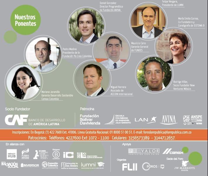 Ponentes, aliados, financiadores y organizadores del Foro
