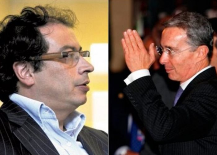 '¿Quién es el terrorista?' le dijo Petro a Uribe