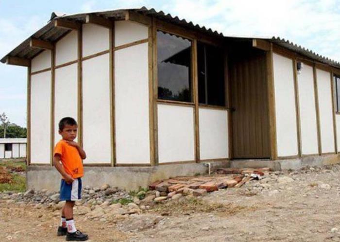 Las casitas de los pobres en Colombia