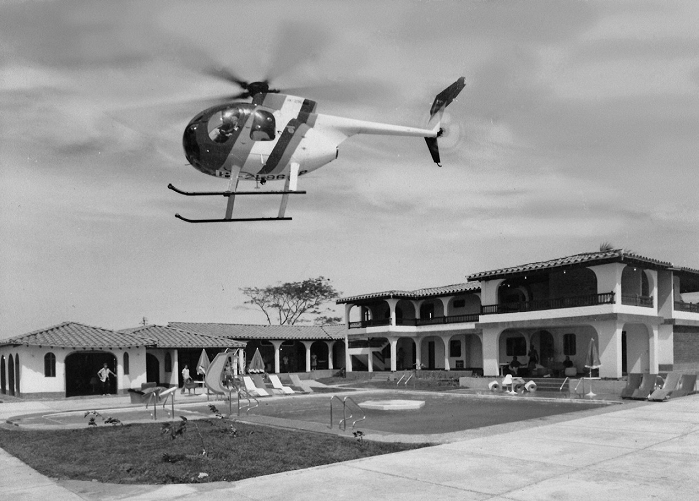 Helicopter at Hacienda Napoles