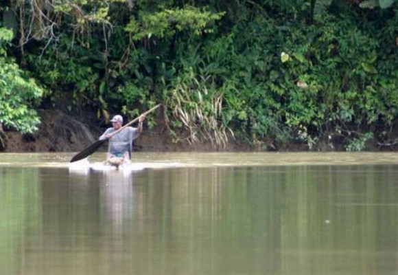 El río Caquetá se muere de sed