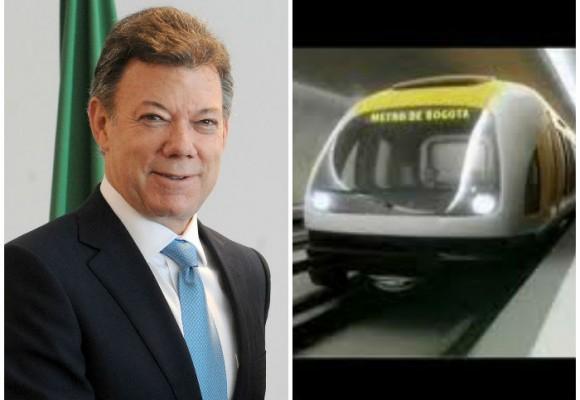 Santos en campaña prometió metro para Bogotá