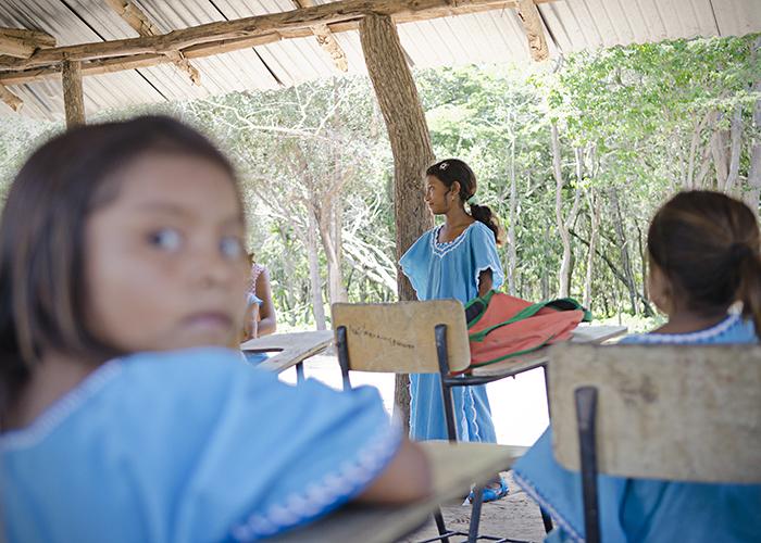 Un día en la escuela wayú