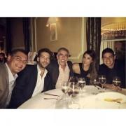 La cena de Martín Santos y el presidente de Pacific Rubiales con James en Madrid