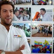 Martín Santos en la comitiva presidencial en Europa