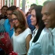 Cielo Gnecco, la mamá del gobernador recibió a Gina Parody en Valledupar