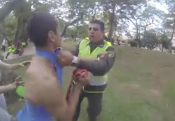 VIDEO: Agresión de policía en Bucaramanga contra deportistas