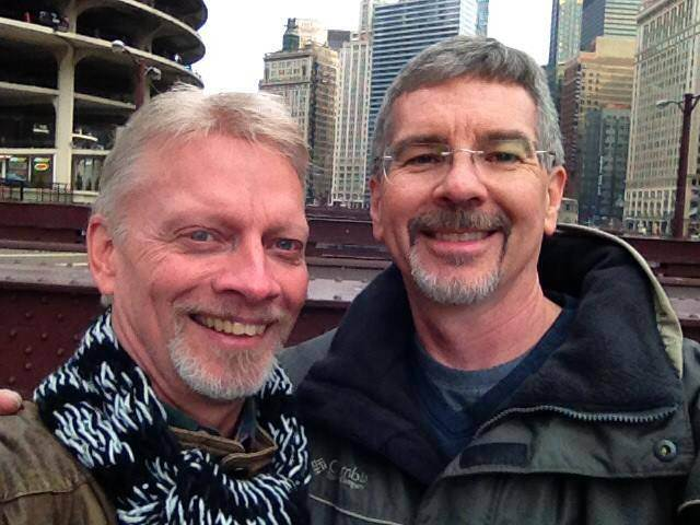 John Smid and Larry McQueen (R) Credit: Larry McQueen/ Facebook