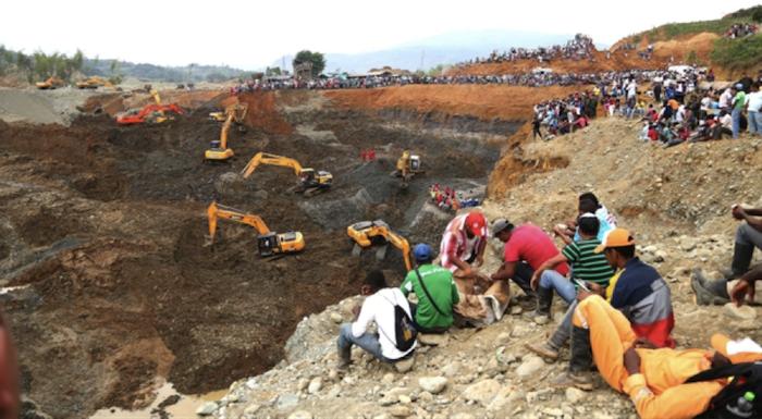 La gobernación del Cauca calcula que hay en el departamento hay alrededor de 2 mil retroexcavadoras. Foto de proclamadelcauca.com