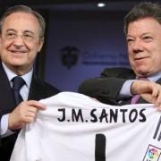 El dueño del Real Madrid esperó a Santos para el saque de honor