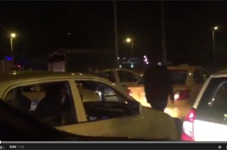 VIDEO: Bloqueo y retén ilegal de taxistas en Bogotá