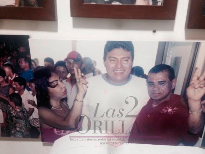"""La Gata, el excongresista William Montes (condenado a 7 años por parapolitica) y su hermano y socio Arquinenes López """"El Quimo"""""""