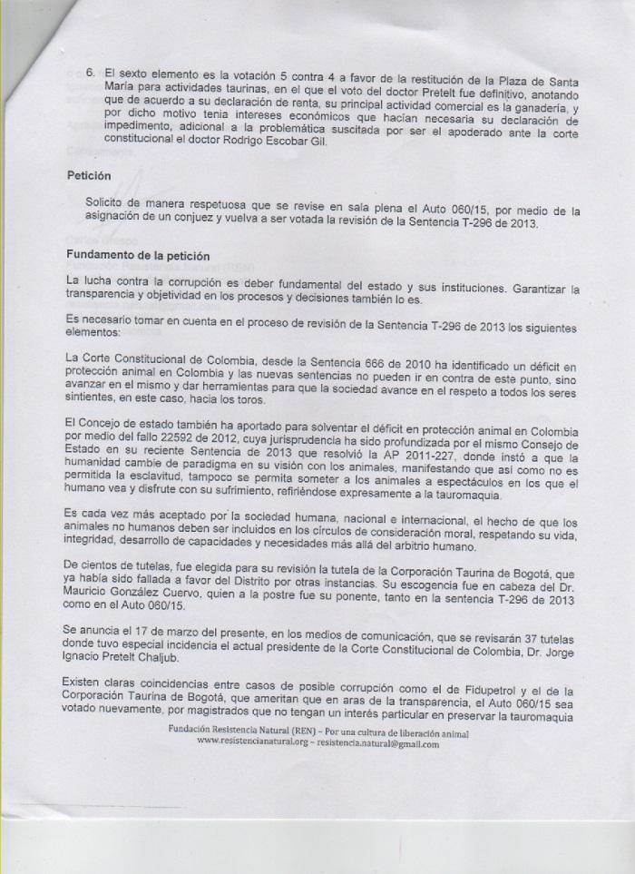 peticion corte REN caso pretelt 2