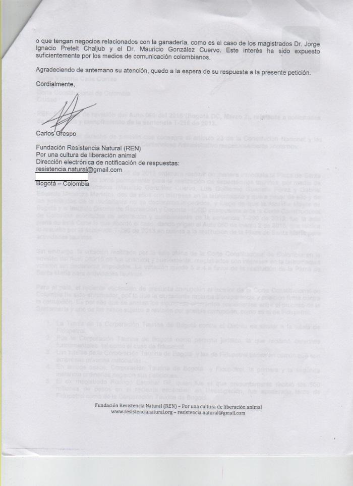 peticion corte REN caso pretelt 3