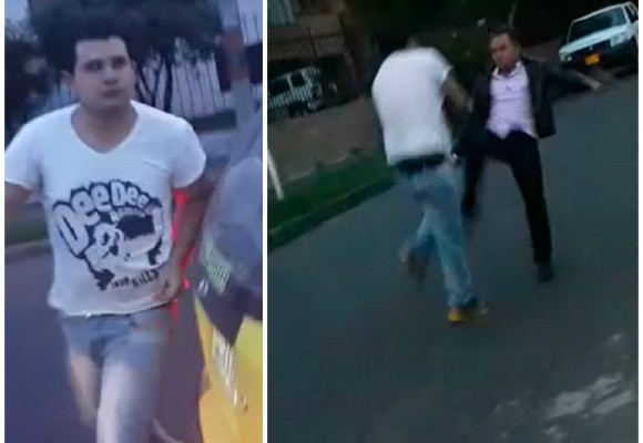 Video: A los puños se fue este taxista en Bogotá