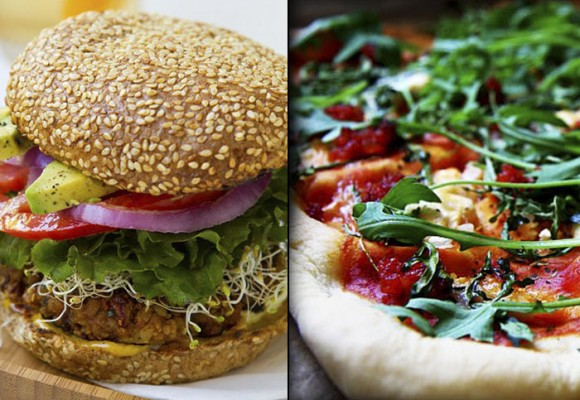 Hamburguesas sin carne y pizzas sin queso
