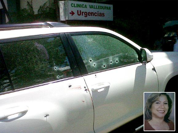 Yandra Brito fue abaleada cuando iba en una camioneta
