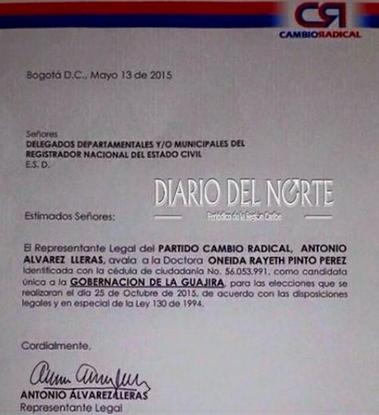 Aval Cambio Radical.