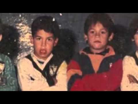 La dupla fantástica: Tevez y su amigo Dario Coronel a los 9 años.