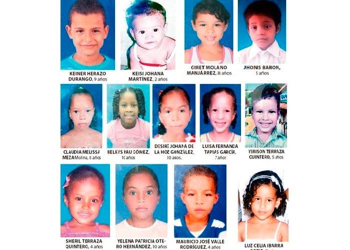 La tragedia de los niños en Fundación