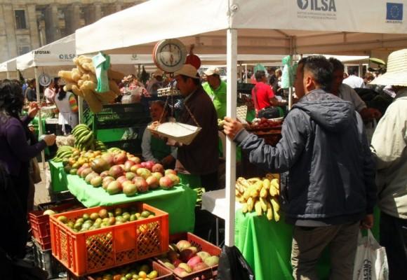 Mercados campesinos en plenas calles de la capital