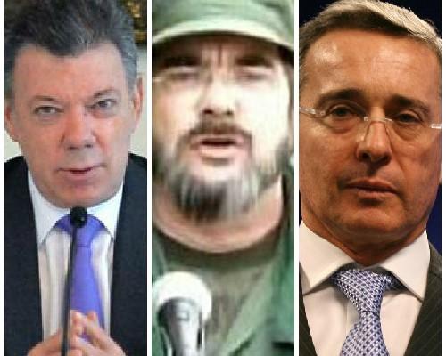 Timochenko: flores para Santos pullas para Uribe
