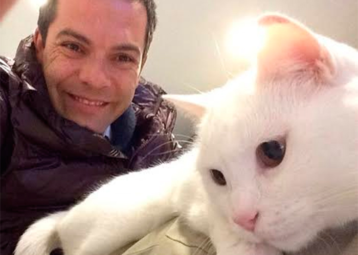 Iván Lalinde visto por su gata