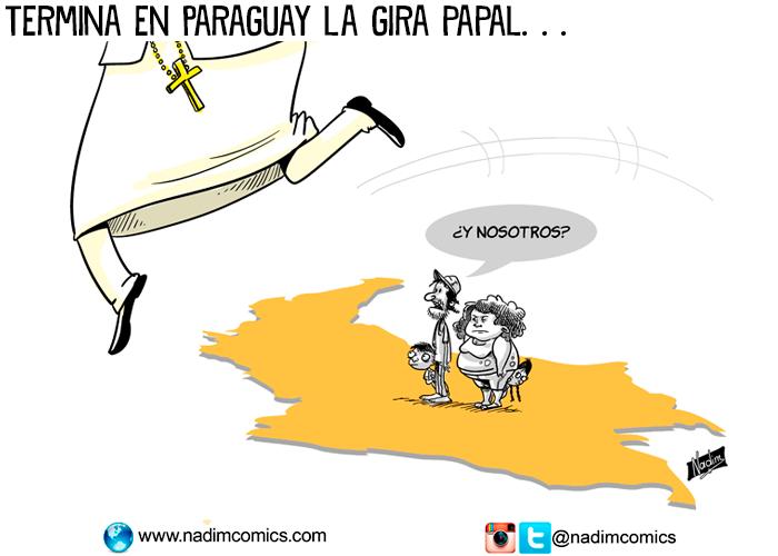 Termina en Paraguay la gira papal:la caricatura de la semana