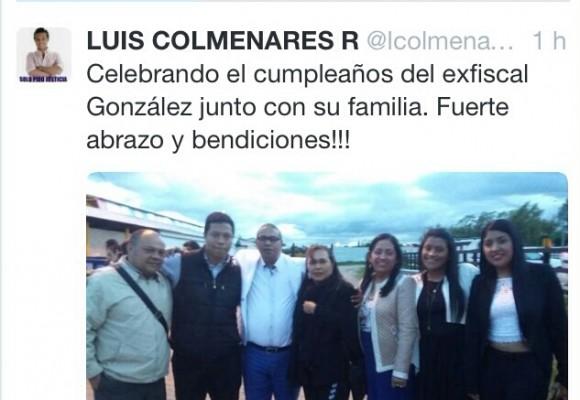 Polémica por foto del papá de Luis Andrés Colmenares