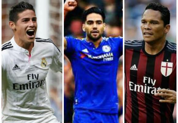 La triada goleadora: James, Falcao y Bacca