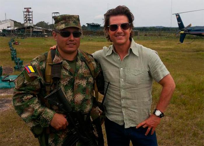Tom Cruise sorprendió a los soldados en el Amazonas