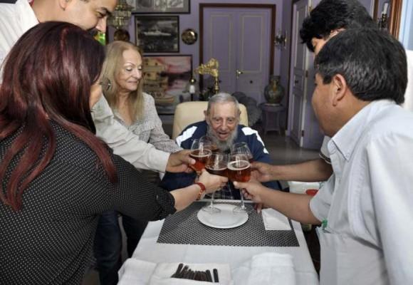 La celebración íntima de los 89 años de Fidel