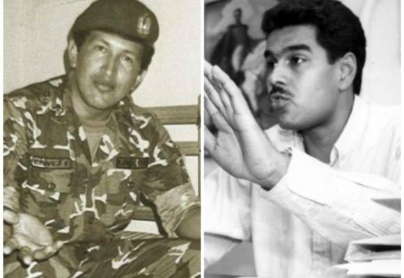 Cuando Hugo Chávez y Nicolás Maduro eran flacos