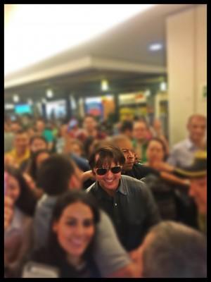 """Tom Cruise, sábado en centro comercial Oviedo, foto: Luis Guillermo Sosa """"Pike"""""""