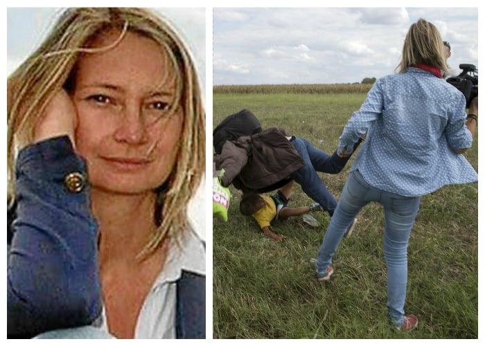 La periodista que pateó a refugiados pidió perdón