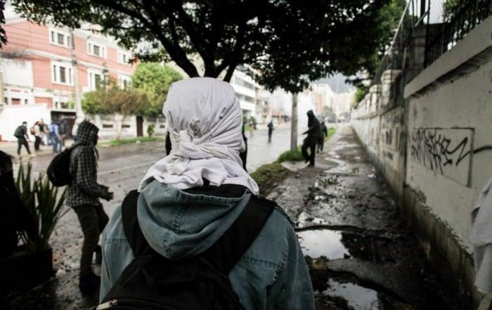 Manifestación en la calle 73 Foto: archivo Publimetro.co