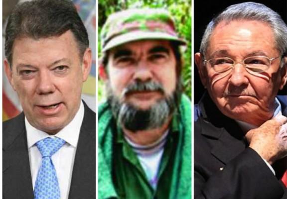 El encuentro de Santos, Timochenko y Raúl Castro en La Habana