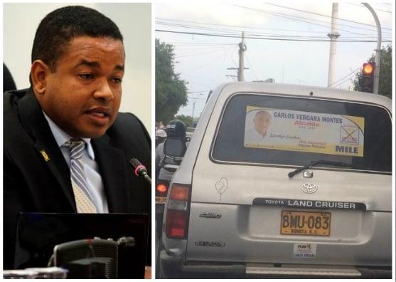 Campaña de Yahir Acuña utiliza vehículo oficial del Congreso
