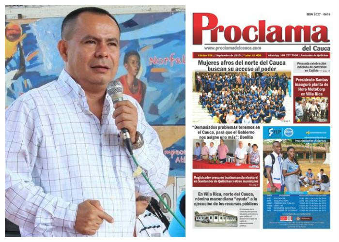 Alcalde de Santander de Quilichao intenta silenciar a Proclama del Cauca