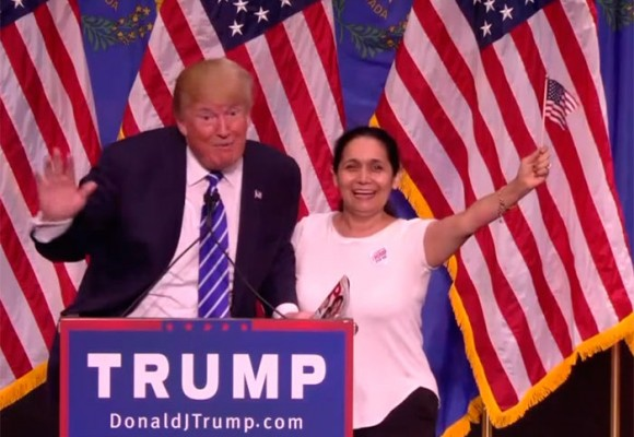En video: la colombiana fanática de Donald Trump