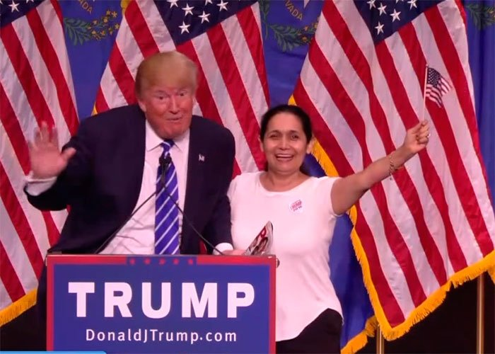 En video: la colombiana fanática de Donald Trump