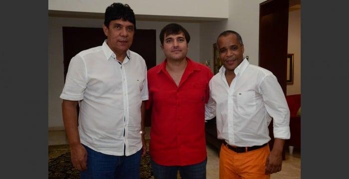 Rafael Pineda, Jaime Pumarejo Heins y Ricardo Villa. FOTO EL HERALDO.