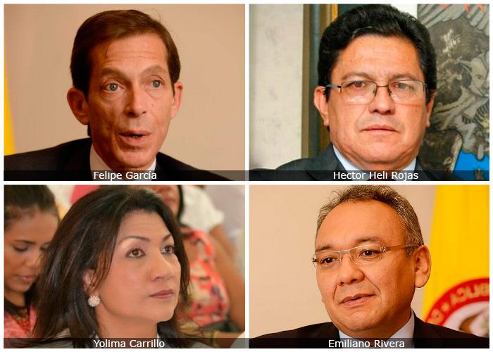 Los magistrados cuestionados del Consejo Nacional Electoral