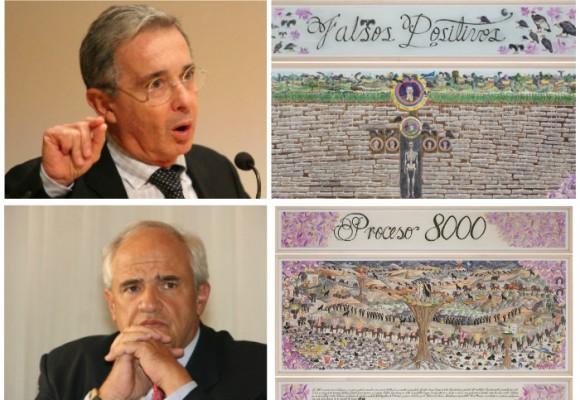 Samper con el Proceso 8000 y Uribe con los falsos positivos llegan al arte
