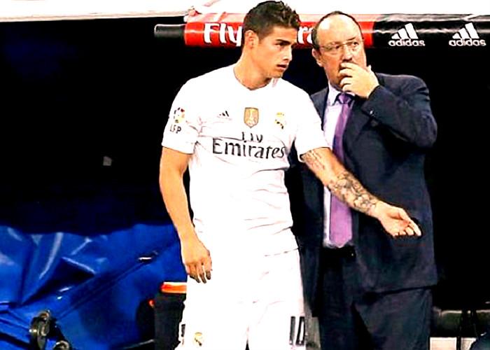 Rafa Benítez, el técnico que va a quemar a James Rodríguez