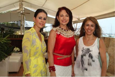 Patricia Falah, Chica Morales y Patricia Fajardo